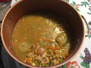 Chicken Brown Rice-Quinoa Soup