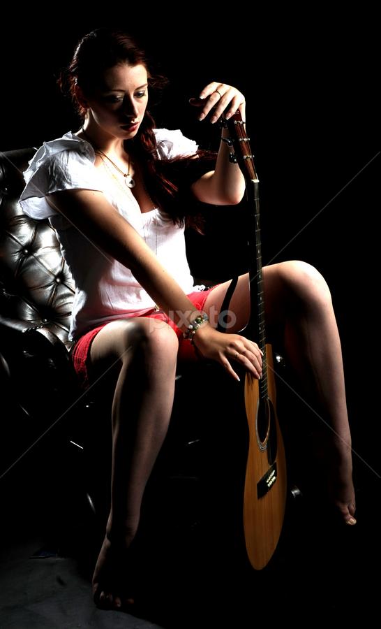 I love guitar by Vineet Johri - People Musicians & Entertainers ( low key, beautiful, dark, guitar, soft )