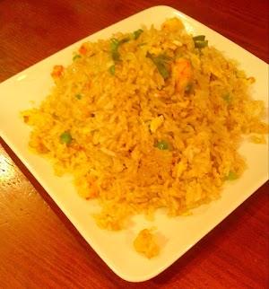 Riz wokées aux crevettes