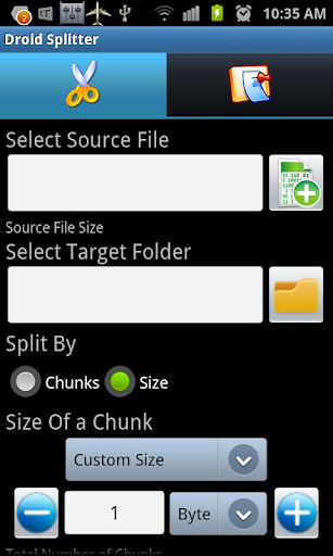 Droid Splitter 1.2.1 screenshots 1