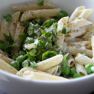 Penne with Goat Cheese and Basil.