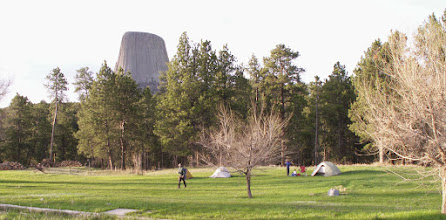 Photo: Campsite on the lawn at Devils Tower Lodge Saturday, Sunday, and Monday nights