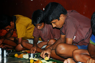 Photo: enjoyimg the Prasadam