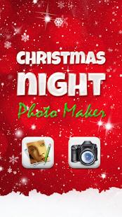 Vánoční Noc Foto Editor - náhled
