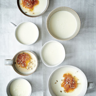 Buttermilk Panna Cotta with Apricot and Candied Fennel