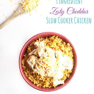 3 Ingredient Slow Cooker Zesty Cheddar Chicken