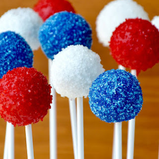 Red, White and Blue Oreo Cookie Pops.