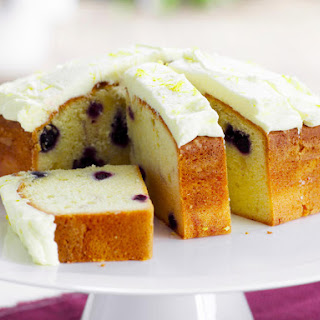 Blueberry Sour Cream Cakes with Lemon Buttercream