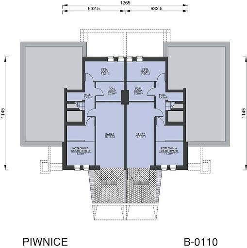 B-0110 - Rzut piwnicy