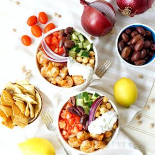 Greek Grilled Shrimp Quinoa Bowls Recipe