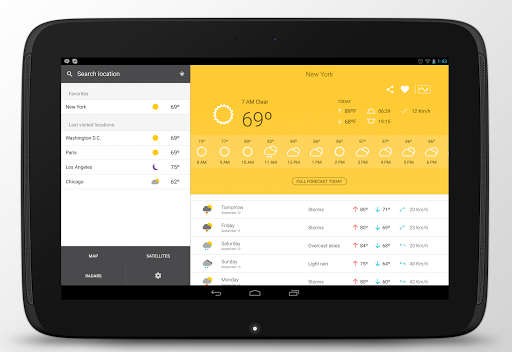 Weather 14 days app (apk) free download for Android/PC/Windows screenshot