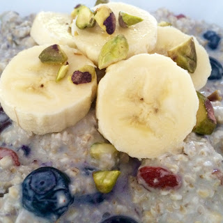 Blueberry and Banana Bircher Muesli