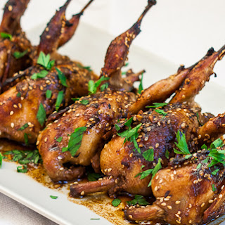 Asian Style Roasted Quail.