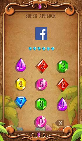 android Applock Theme Jewels Star Screenshot 1