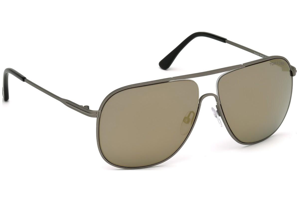 6f4c1891e6 Sunglasses Tom Ford Dominic FT0451 C60 09C (matte gunmetal   smoke mirror)
