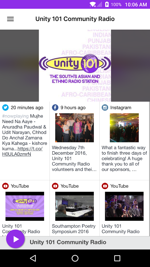 Unity 101 Community Radio- screenshot