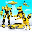 Wild Fox Transform Bike Robot Shooting: Robot Game icon