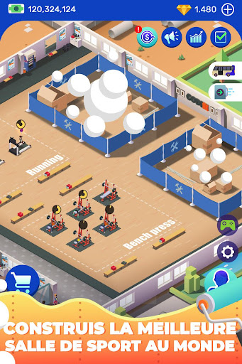 Code Triche Idle Fitness Gym Tycoon - Workout Simulator Game APK MOD screenshots 5