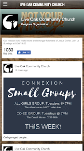 Live Oak Community Church- screenshot thumbnail