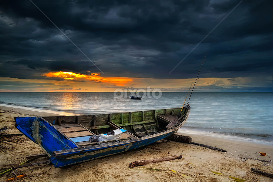 Sunset on the beach Jawai West Borneo by Uray Mirwan - Landscapes Sunsets & Sunrises