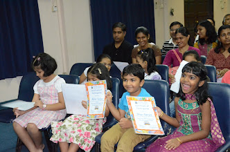 Photo: The children were happy to receive the certificate.