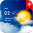 Transparent clock weather (Ad-free) icon