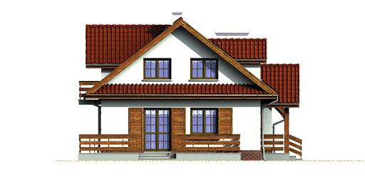 Dom przy Modrzewiowej - Elewacja lewa