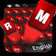 Metal Black Red Keyboard Theme APK