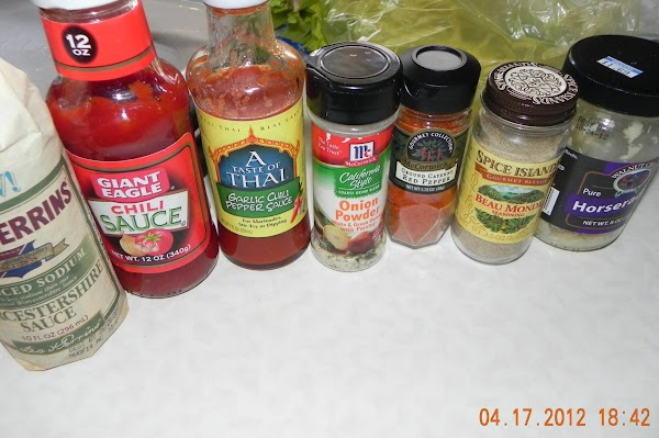 Here are the sauces and such that I used.
