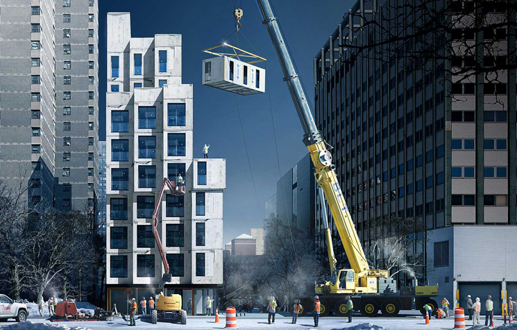 carmel place, tallest modular building in New York city by nArchitects