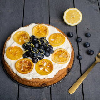 Blueberry Almond Lemon Cake.