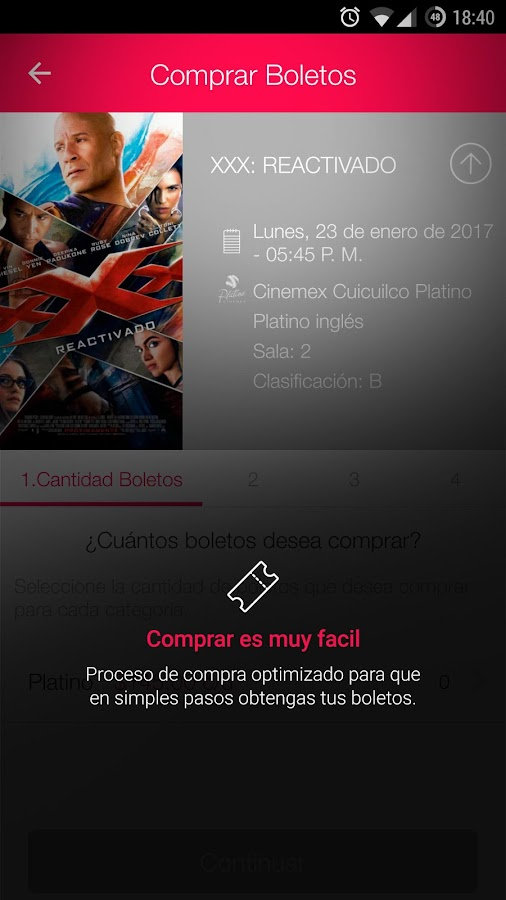 Cinemex- screenshot