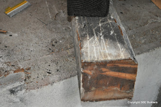 Photo: Picture # 4 showing 6x6 girder post that was never nailed.