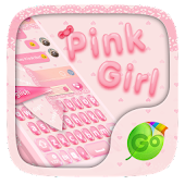 Pink Girl Keyboard Theme