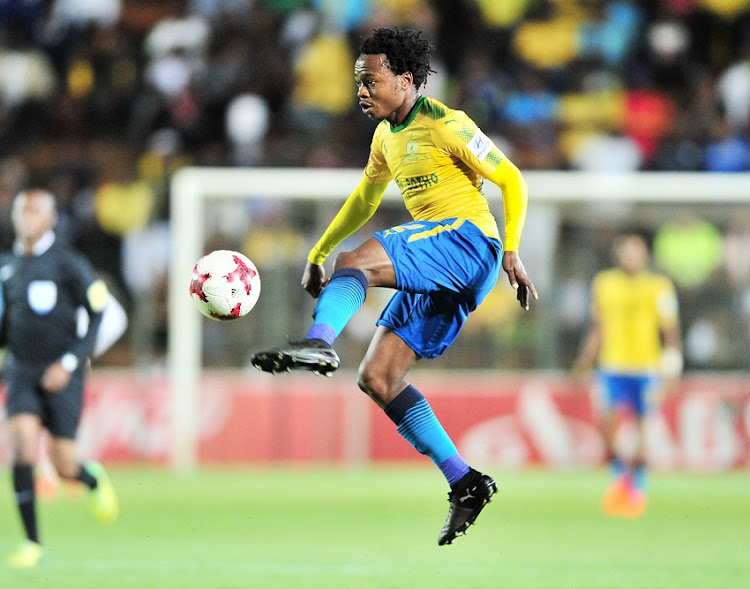 Percy Tau of Mamelodi Sundowns during the Absa Premiership 2017/18 football match between Bidvest Wits and Mamelodi Sundowns at Bidvest Stadium, Johannesburg.