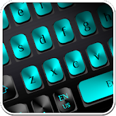 Black Blue Metal Keyboard