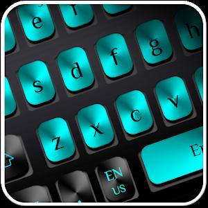 Black Blue Metal Keyboard for PC