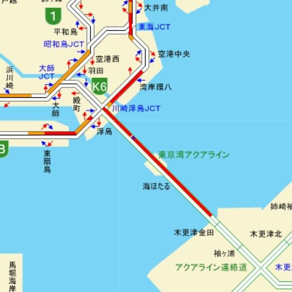 東京湾アクアライン 渋滞