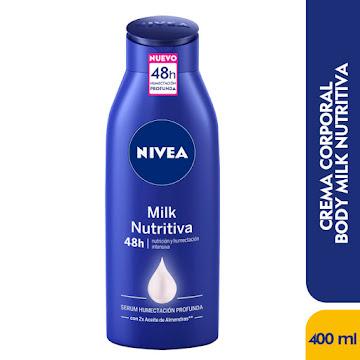 Crema NIVEA Milk   Nutritiva Corporal Hydra IQ x400Ml