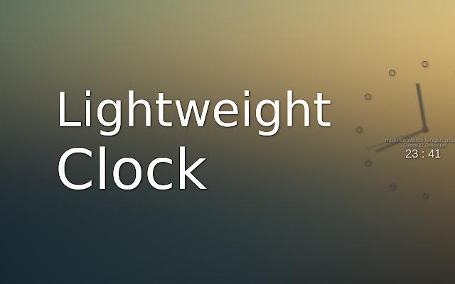 שעון קל משקל עבור 新标签的轻量级时钟