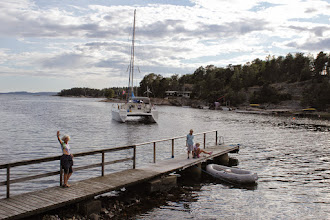 Photo: Next day anchored in Krikakilen, Veierland where we had a cottage from 1956-2013.