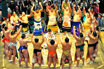 Photo: The Maku-uchi (top division) West.