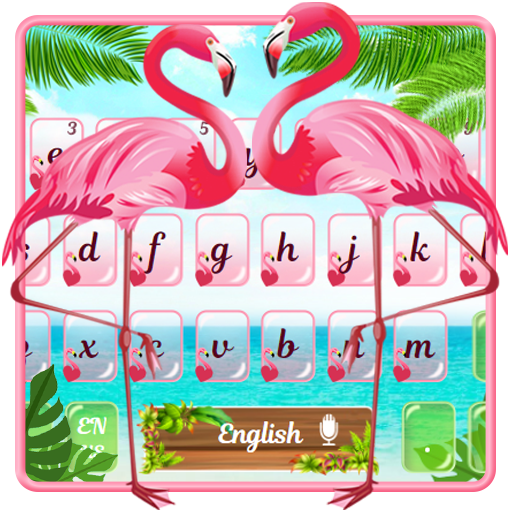 Pink Flamingo Keyboard Theme file APK Free for PC, smart TV Download