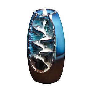 Suport aromaterapie, fantana curgatoare, albastru/maro