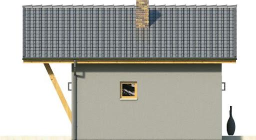 Domek 3 - Elewacja lewa
