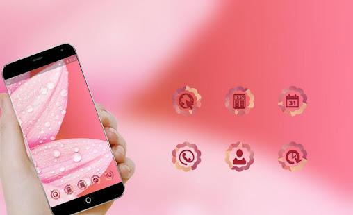 Pink Flower Theme For Girls Rose Golden Wallpaper