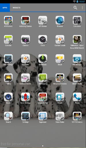 玩免費個人化APP 下載Dalmatian Theme - Nova/ADW/GO app不用錢 硬是要APP