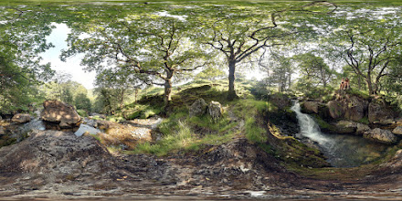 Photo: Afon Cwm Llan waterfalls photosphere