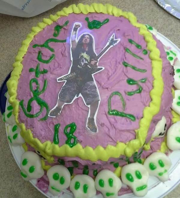 (finished Blacktooth Grin Cake Taken With Phone... Camera Pictures Currently Mia But Will Upload Asap)