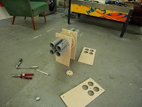 "Photo: The airflow ""H-bridge"" assembly"